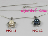 different colors 7-7.5mm akoya pearl pendant wholesale