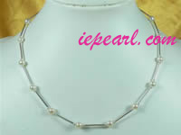 wholesale white potato shaped tin cup pearl necklace online