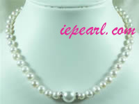 7-8mm white round freshwater pearl necklace wholesale