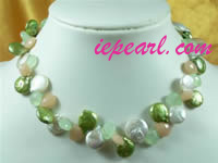 wholesale colourful drop water pearl necklace