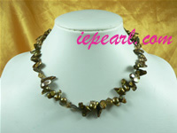 wholesale bronze tail shape freshwater pearl necklace