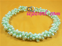 wholesale 6-6.5mm twisted pearl necklace