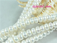ivory white 9-10mm button freshwater pearl strand