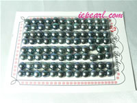 peacock blue 7-7.5mm loose bread freshwater pearl beads