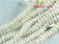 ivory white 10mm center drilled coin freshwater pearl strand