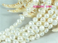 natural white 6-7mm nugget freshwater pearl strand