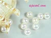 per 50pcs ivory white 7-7.5mm round loose freshwater pearl beads