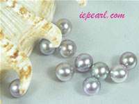 per 50pcs gray 7-7.5mm round loose freshwater pearl beads