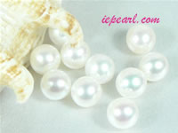 per 20pcs ivory white 8-8.5mm round loose freshwater pearl beads