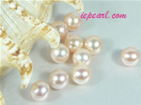 per 20pcs pink 8-8.5mm round loose freshwater pearl beads