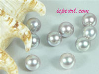 per 20pcs gray 8-8.5mm round loose freshwater pearl beads