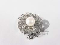 wholesale 3 rows charming zircon clasp with white pearl