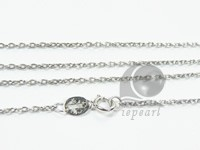 925 sterling silver rhodium plated pendant chain