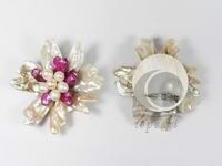 wholesale 8cm white and pink Keshi pearl brooch