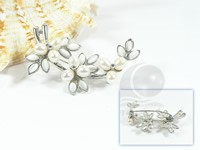 wholesale 2*7.5cm wheat shape freshwater pearl brooch
