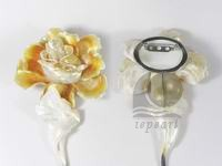 wholesale 12cm yellow rose shape shell brooch
