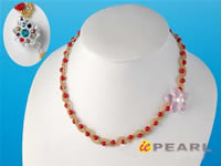 Wholesale hand knotted neck collar flower coral necklace online