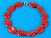 Wholesale 25*30mm red grass coral necklace bulk online