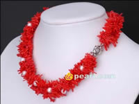 Wholesale freshwater pearl necklaces Coral online