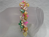 Wholesale colorful freshwater pearl bracelet online directly