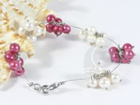 hand wired freshwater pearl flower bracelet wholesale