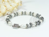 Wholesale 7-8mm pure white rice pearl bracelet online