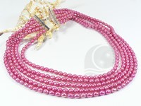 5-6mm wine red color rice freshwater pearl necklace wholesale
