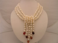6-7mm smooth-on-both side white pearl necklace wholesale