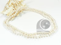 Clearance sale 6-7mm button pearl long necklace online
