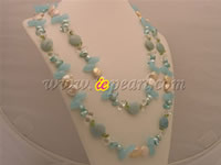 Wholesale blue crystal necklace with w/n clasp in low price