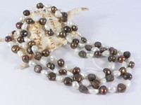 10-11mm mixing color nugget pearl rope long necklace online
