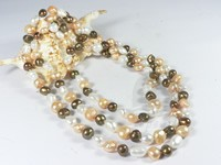 3 colors mixing nugget cultured 10-11mm pearl necklace online