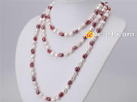 nugget cultured mixing color & sized pearl necklace wholesale