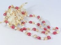 10-11mm multi-color nugget pearl rope long necklace wholesale