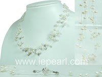 white illusion nugget pearl necklace wholesale online