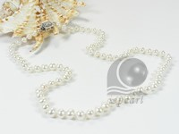 5-6mm white off-round freshwater pearl necklace jewelry