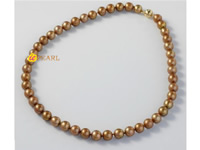 dyed copper 8-8.5mm round pearl necklace wholesale online