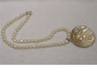6-7mm white cultured freshwater pearl necklace in wholesale