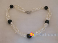 twisted white nugget pearl necklace wholesale online