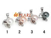Wholesale 8-8.5mm freshwater pearl pendant in low price