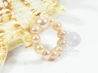 stretchy freshwater 4-5mm pearl rings on sale