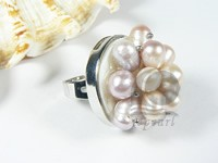 multicolor freshwater pearl ring