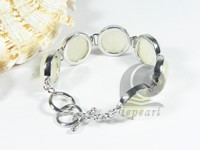 27mm light yellow jade bracelet