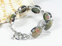 27mm red and green gemstone bracelet