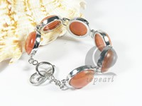 27mm orange gemstone bracelet
