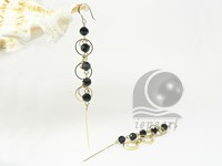 wholesale hematite bead gold plated dangling earring online