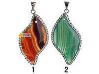 wholesale veins agate pendant jewelry 2 color