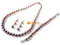 Multicolor color 8-9mm rice pearl necklace jewelry wholesale