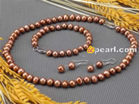 7-8mm potato freshwater pearl jewelry set wholesale online