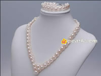 hand braid pearl wedding jewelry set wholesale in low price
